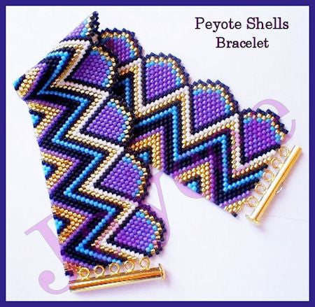 Bead Pattern - Peyote Shells Bracelet - Peyote Stitch