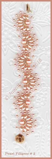 Bead Tutorial - Pearl Filigree # 2 Bracelet - Netting stitch