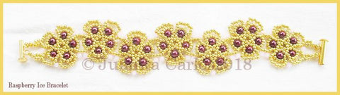 Bead Tutorial - Raspberry Ice Bracelet - Netting Stitch
