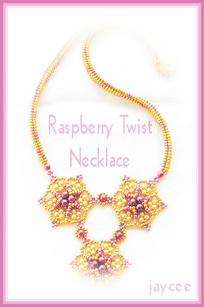 Bead Tutorial - Raspberry Twist Necklace - Netting Stitch and Herringbone Stitch