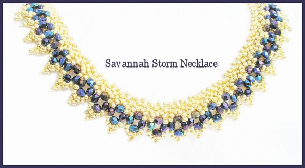 Bead Tutorial - Savannah Storm Necklace - Netting Stitch