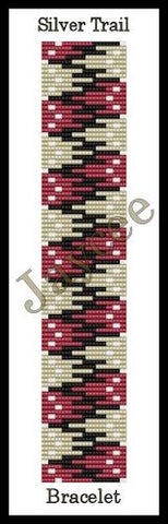 Bead Pattern - Silver Trail - Loom Stitch