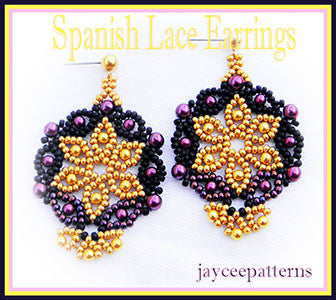 Bead Tutorial - Spanish Lace Earrings - Netting Stitch