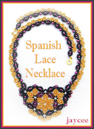 Bead Tutorial - Spanish Lace Necklace - Netting Stitch