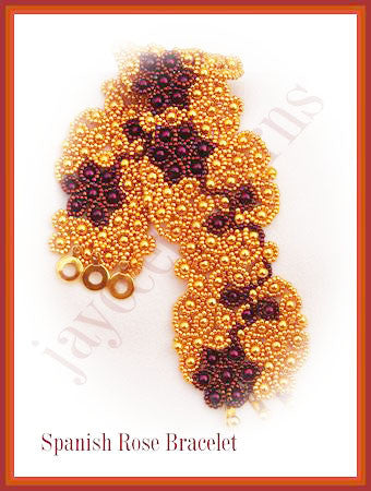 Bead Tutorial - Spanish Rose Bracelet - Netting Stitch