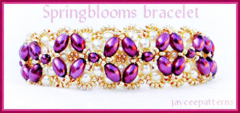 Bead Tutorial - Spring Blooms Bracelet - Embellished Right Angle Weave RAW