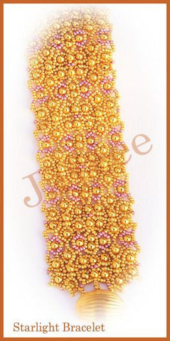 Bead Tutorial - Starlight Bracelet Cuff - Netting Stitch
