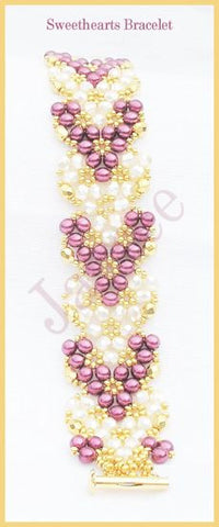 Bead Tutorial - Sweethearts Bracelet - Triangle Weave