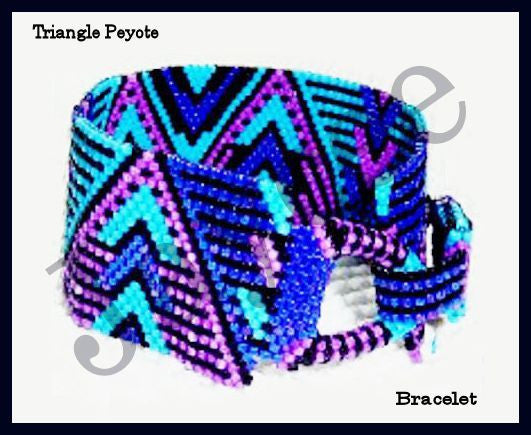 Bead Pattern - Triangle Peyote Bracelet - Even Count Peyote Stitch