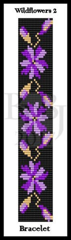 Bead Pattern - Wildflowers 2 Bracelet - Loom Stitch