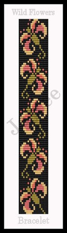 Bead Pattern - Wild Flower Bracelet - Loom Stitch