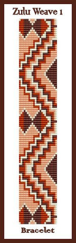 Bead Pattern - Zulu Weave 1 - Loom Stitch
