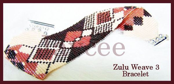 Bead Pattern - Zulu Weave #3 - Loom Stitch