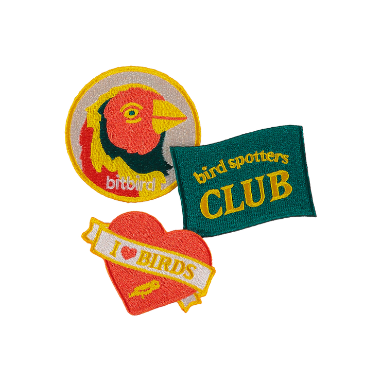 bird spotters club patches