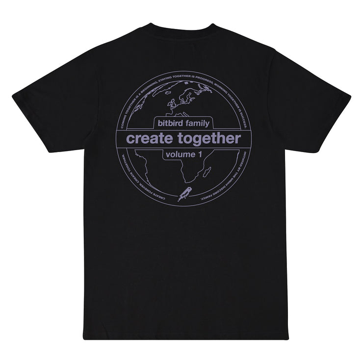 bitbird Create Together vol.1 tee black
