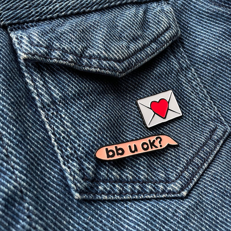 bb u ok? pin set