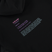 stay vibrant dictionary Hoodie - Black