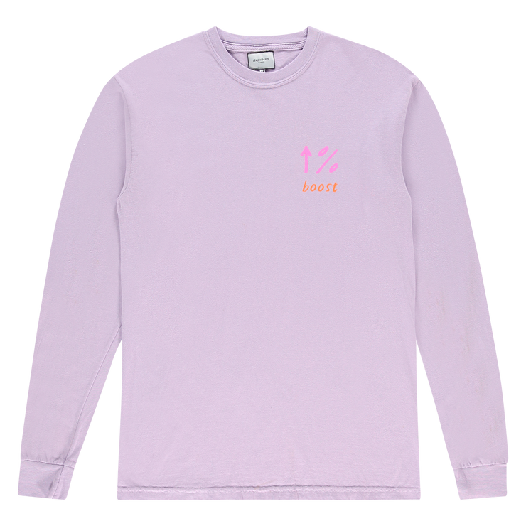 stay vibrant % boost Long Sleeve Tee