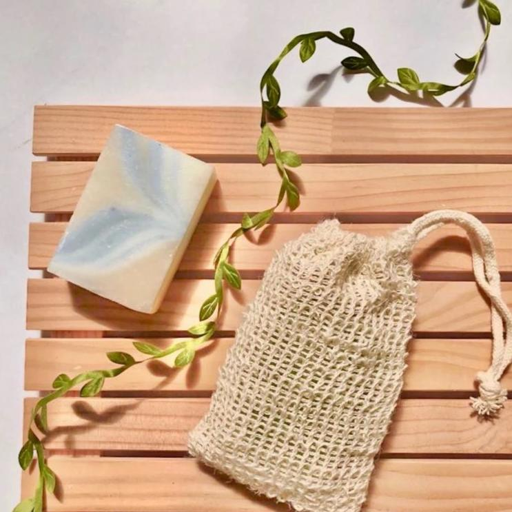 All Natural Handmade Soaps in Sisal Pouch
