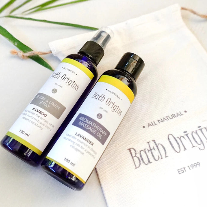 Linen Spray and Massage Oil in Pouch