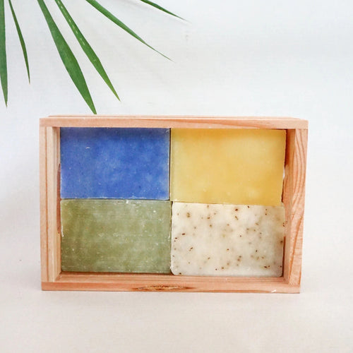 4 Soaps in a Crate Box