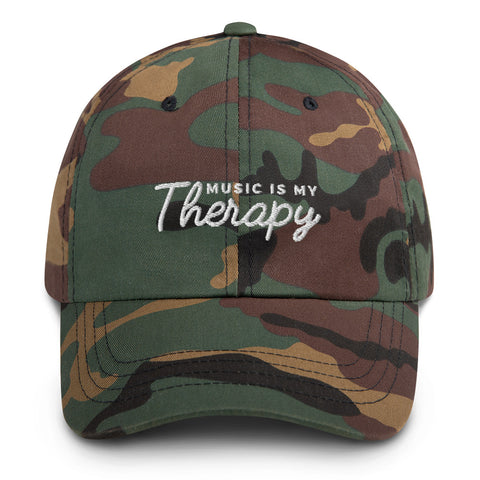 Music Is My Therapy Dad Hat