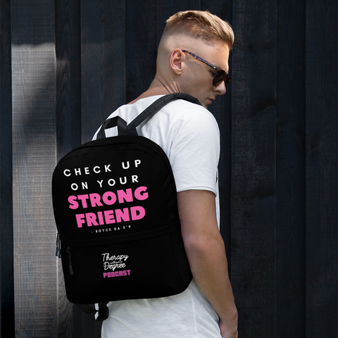 Pink Strong Friend Bookbag