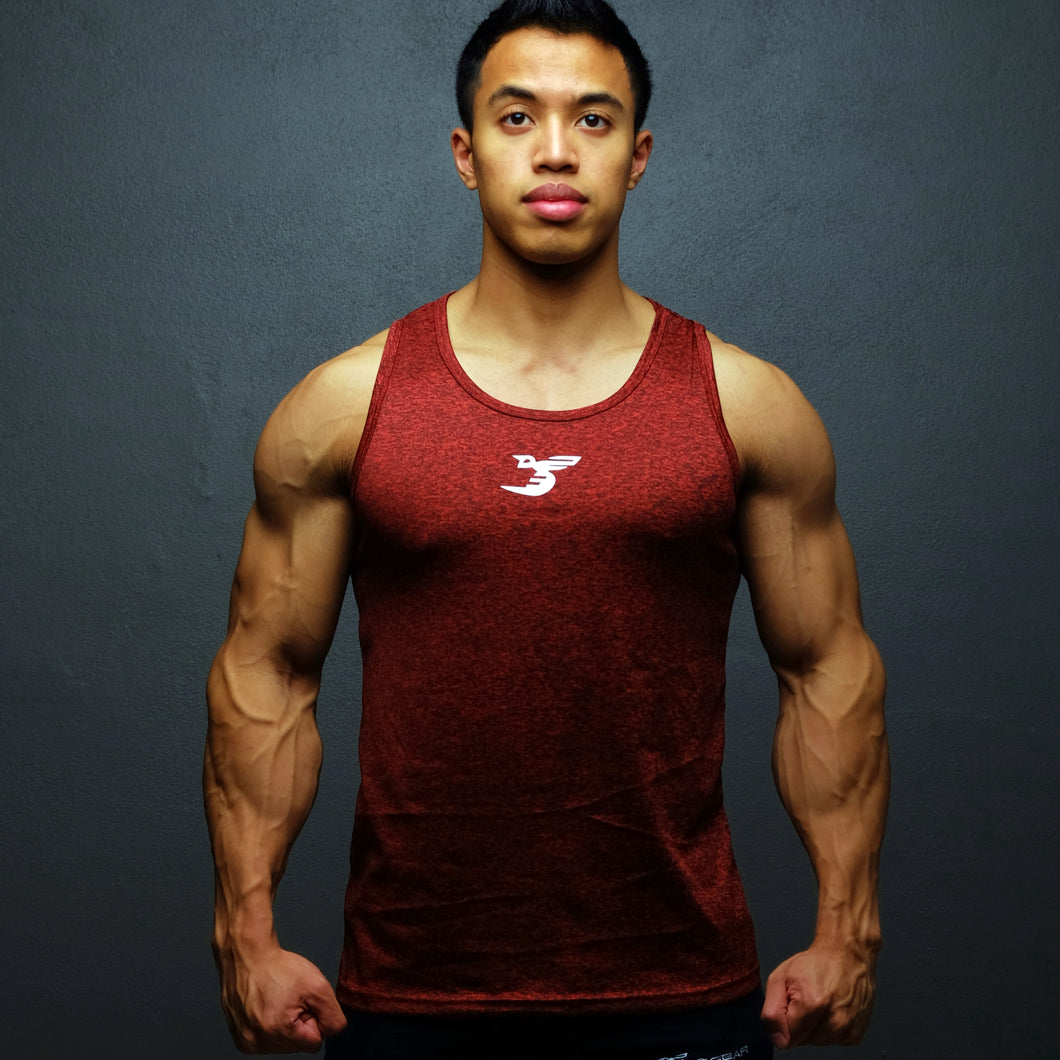 Performance Tank - Maroon Red