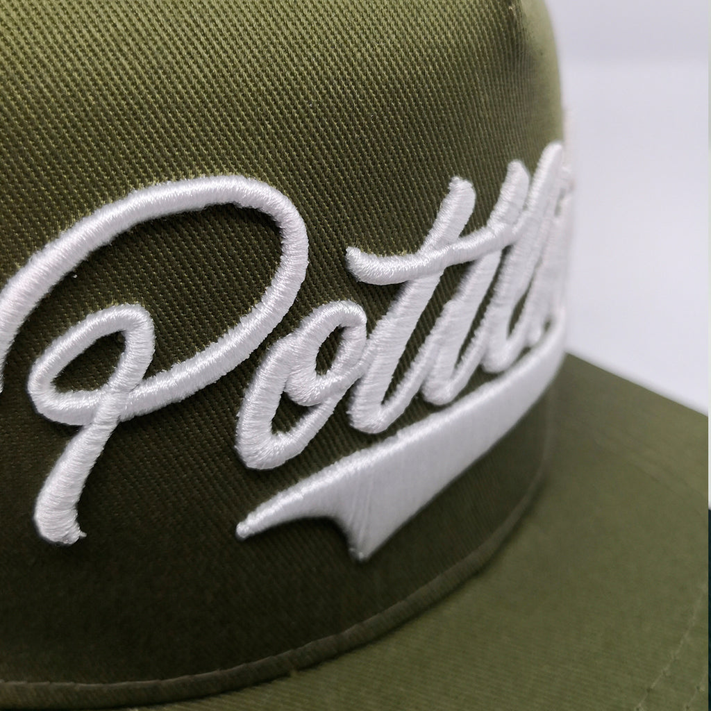 POTTLIEBE Snapback - Olive White