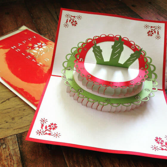 Fairy cake happy birthday card