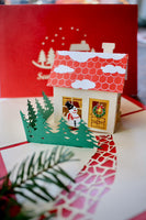 Christmas Cottage Pop up Card