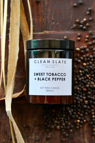 Sweet tobacco+black pepper candle