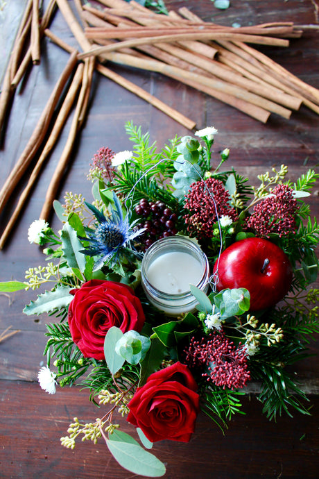 Festive Red Table Arrangement