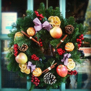 Fresh Door Wreath (fruity)