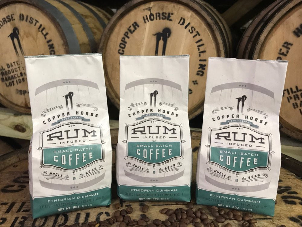 Rum Infused Small-Batch Coffee (8 oz)