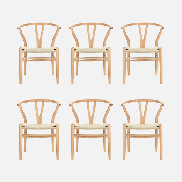 6 x Wishbone dining chairs