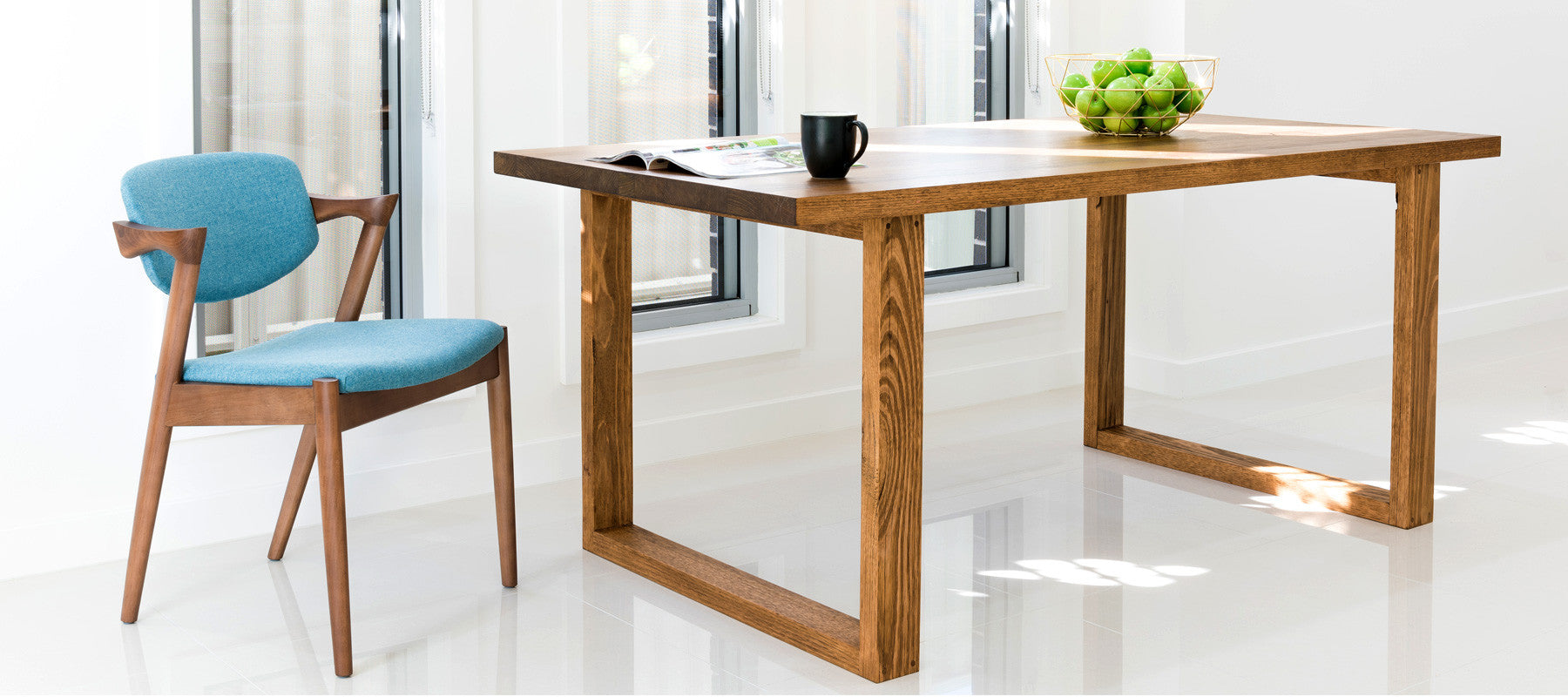 Uchi solid timber dining table