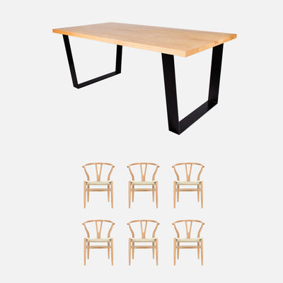 Vic 7pc dining package - Black legs