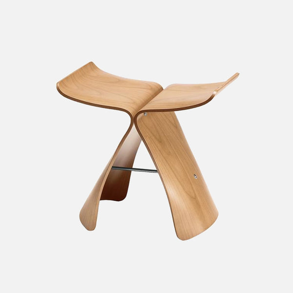 Natural Butterfly Stool