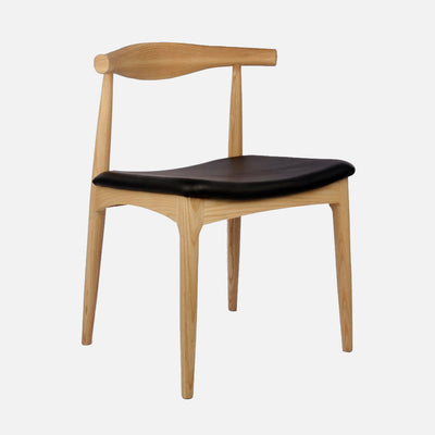 Elbow chair natural - side