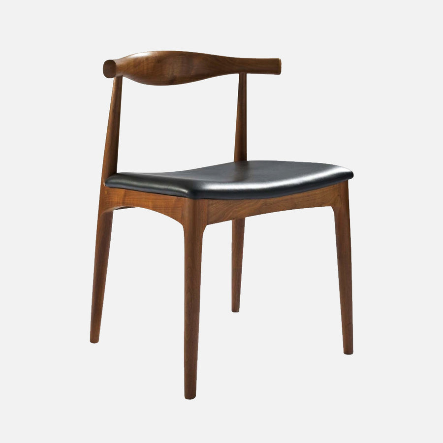 Hans Wegner elbow chair Walnut - Front