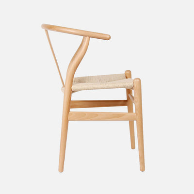 Wishbone chair Beech/Cord - Side