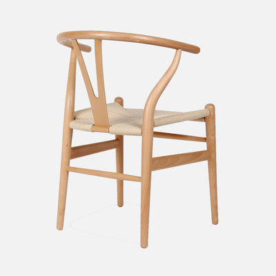 Wishbone chair Beech/Cord - Back