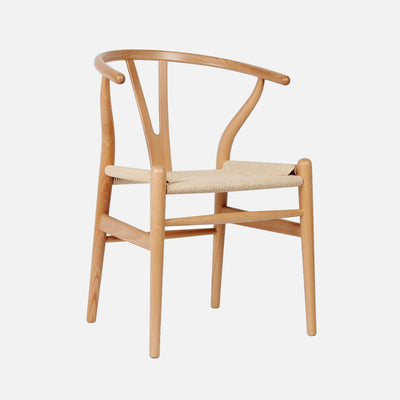 Wishbone chair Beech/Cord - Perspective