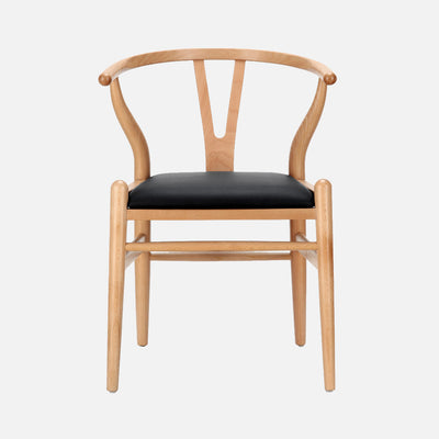 Hans Wegner Wishbone Chair Padded seat - Front