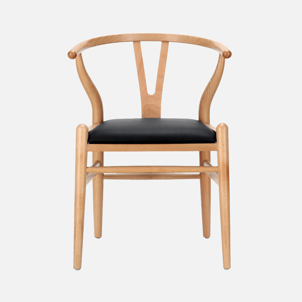 Wishbone chair natural -Front