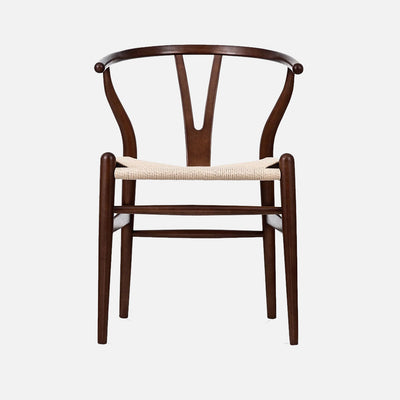 Wegner Wishbone chair - Walnut/Cord Front