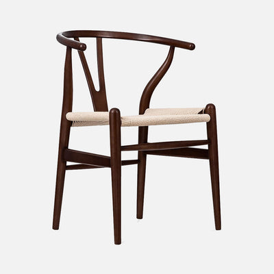 Wishbone chair - Walnut/Cord - Perspective