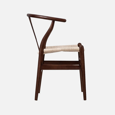 Wegner Wishbone chair - Walnut/Cord Side