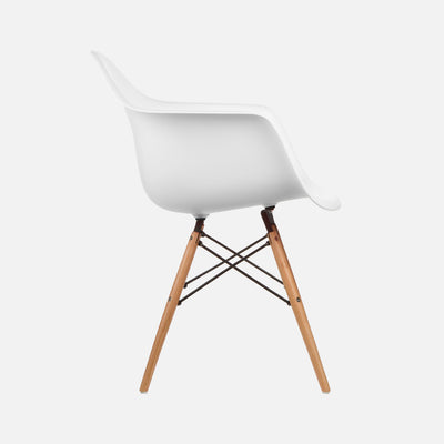 Eames Replica DAW Armchair - White Side